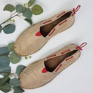 TOMS Burlap Bimini Stitchout Loafer 8